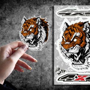 Стикер Тигр 4×4