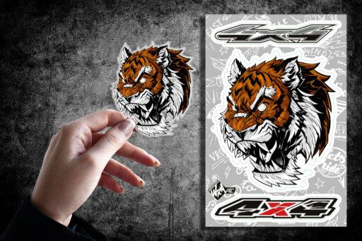 Стикер Тигр 4х4